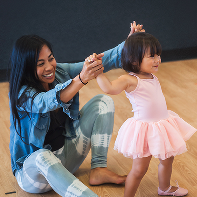 Ballet / Tap Parent & Me (1 ½ yrs- 2 yrs 9mo.) minimum age by Sept. of current school year