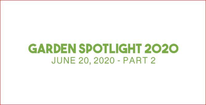 Saturday – Garden Spotlight – Part 2
